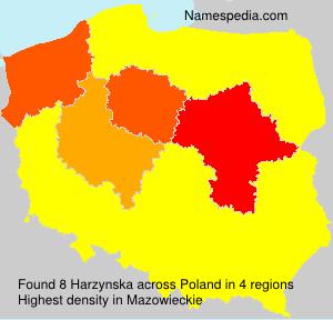 Surname Harzynska in Poland