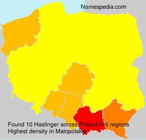 Familiennamen Haslinger - Poland