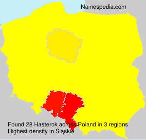 Surname Hasterok in Poland
