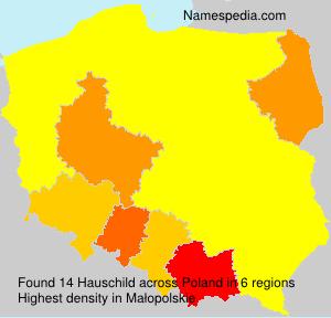 Surname Hauschild in Poland