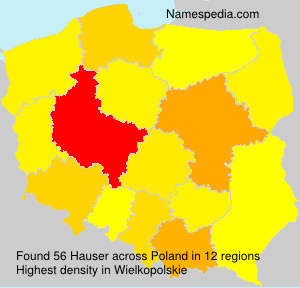 Surname Hauser in Poland