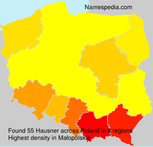 Surname Hausner in Poland
