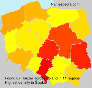 Surname Hauzer in Poland