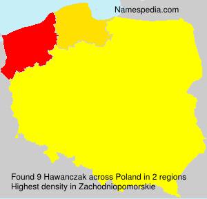 Surname Hawanczak in Poland