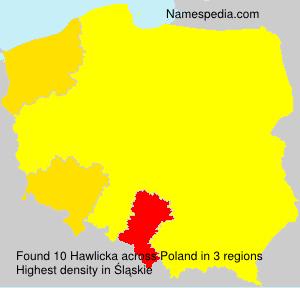 Familiennamen Hawlicka - Poland