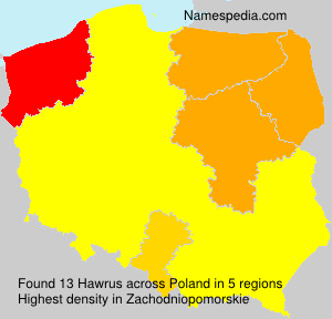 Surname Hawrus in Poland