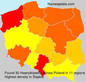 Surname Hawrylkiewicz in Poland