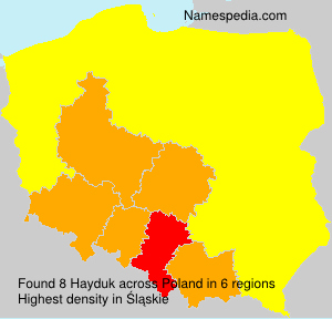 Surname Hayduk in Poland