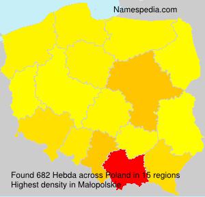 Surname Hebda in Poland