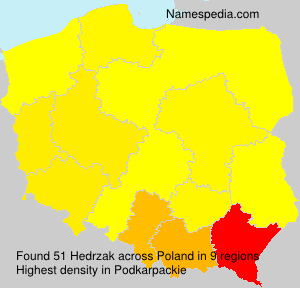 Surname Hedrzak in Poland