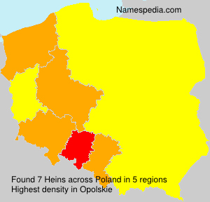 Surname Heins in Poland