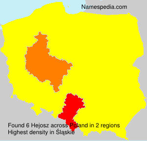 Surname Hejosz in Poland