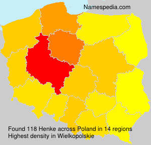Surname Henke in Poland