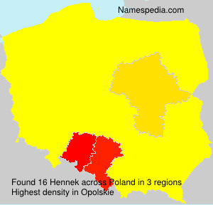 Surname Hennek in Poland