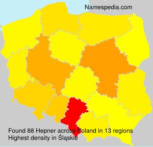 Surname Hepner in Poland