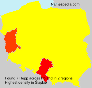 Surname Hepp in Poland