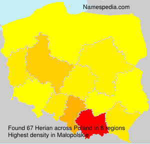 Surname Herian in Poland