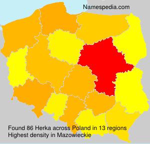 Surname Herka in Poland