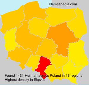 Surname Herman in Poland