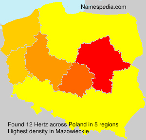 Surname Hertz in Poland