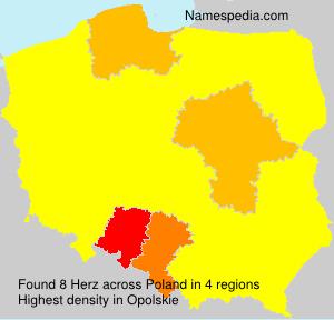 Surname Herz in Poland