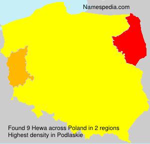 Familiennamen Hewa - Poland