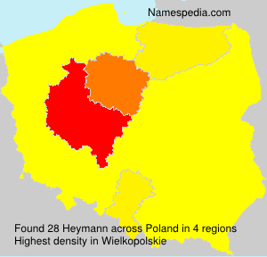 Surname Heymann in Poland