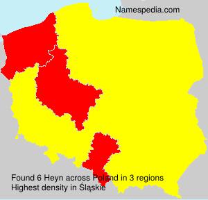Surname Heyn in Poland