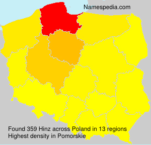 Surname Hinz in Poland