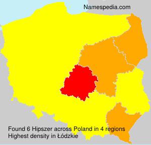 Surname Hipszer in Poland