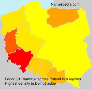 Surname Hladczuk in Poland