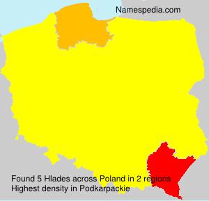Surname Hlades in Poland