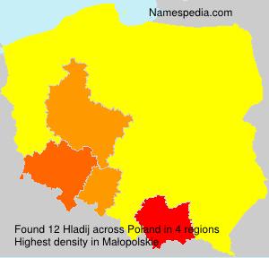 Familiennamen Hladij - Poland