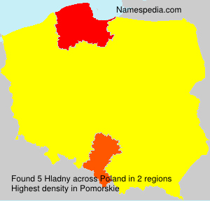 Surname Hladny in Poland