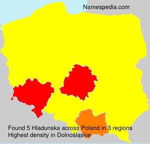 Surname Hladunska in Poland