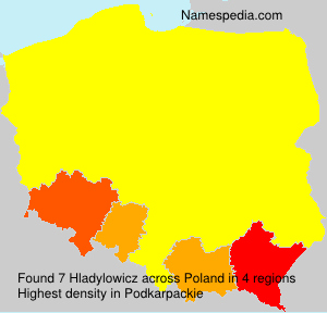 Surname Hladylowicz in Poland