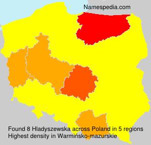 Surname Hladyszewska in Poland