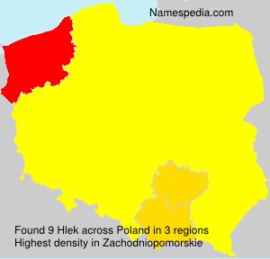 Surname Hlek in Poland