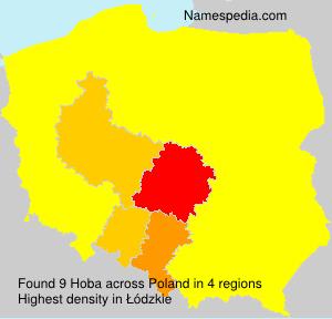 Familiennamen Hoba - Poland