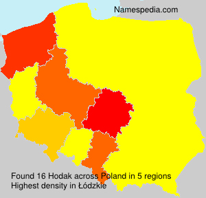 Familiennamen Hodak - Poland