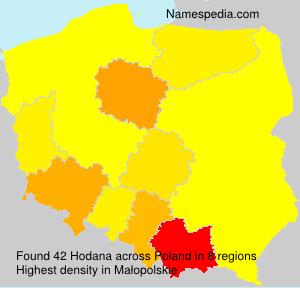 Familiennamen Hodana - Poland