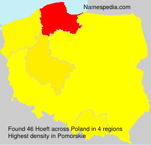 Surname Hoeft in Poland