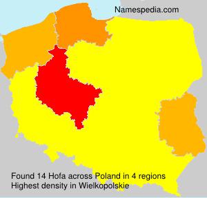 Familiennamen Hofa - Poland