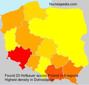 Surname Hofbauer in Poland