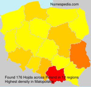 Surname Hojda in Poland