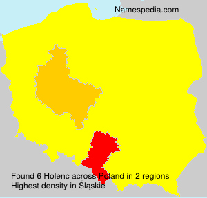 Surname Holenc in Poland