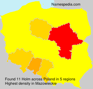 Surname Holm in Poland