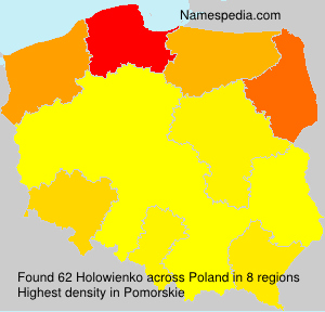 Surname Holowienko in Poland