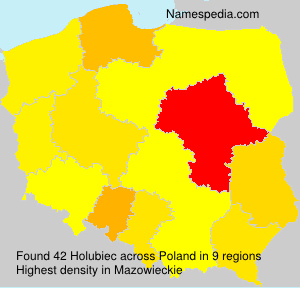 Surname Holubiec in Poland