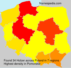 Surname Holzer in Poland